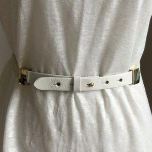 Ann Taylor leather belt size L adjustable
